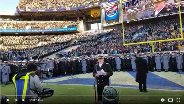 The West Point and Naval Academy Chorales sing the National Anthem at the 2016 Army Navy Game!  Goose Bumps.Flash Performance at Union Square, DC. Love those uniforms! Especially like their Auld Lang Syne performance!