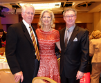 Dr. Christian with Lora and Jim Watts. Lora was the Co-Chair of the Book and Author Luncheon!