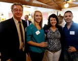 Dr. Christian with Barbie Scharf-Zeldes and our Interns Haley Titsworth and Gilbert Vazquez at her Rally at the Red Barn.
