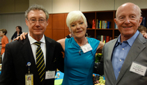 Reception honoring supporters of the Cancer Center Council. Dr. Christian with CCC Members and Inside Outside Clients Doug & Kathryn McCall!
