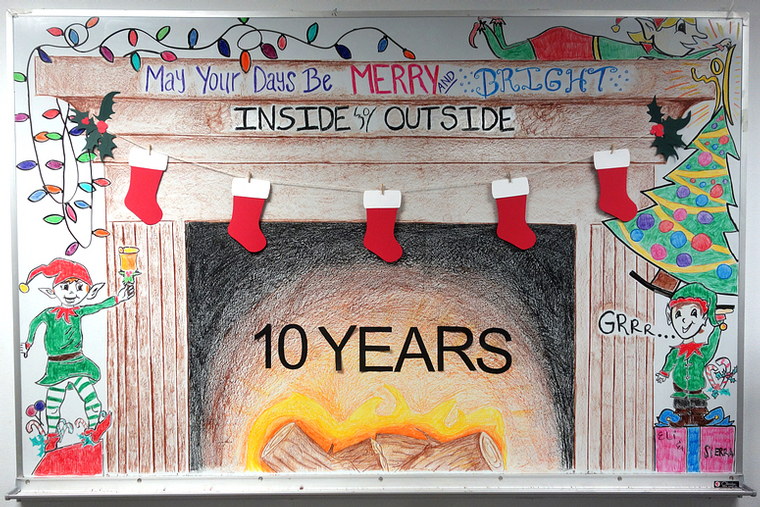 Celebrating 10 Years of welcoming you into our Home!  Lots of warmth at Inside Outside! Come on In!