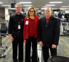 Dr. Christian, Rene Fletcher RN, Nurse Director and Jim Willis, Methodist VP of CardioVascular Services.