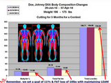 With our DXA Comparison Tool we convert gms to lbs and can easily compare your scans.