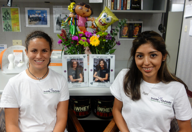 Elena and Sara on the First Day of their Fall 2013 Internship!!