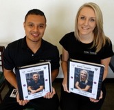 Gilbert and Haley with their Memory Scrapbooks of their Internship!