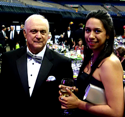 Dr. Gary West with his favorite Hi-Lo Trainer, Elydia Ybarbo at the Sports Foundation Hall of Fame Gala!