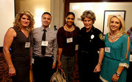 Inside Outside Clients Jody Ognowski and Mary Mendez, our Interns Haley Titsworth and Gilbert Vazquez with Bexar County Sherrif Susan Pamerleau who was a speaker at the Impact Event concerning Violence and Women at The Plaza Club.