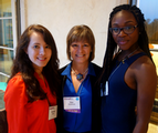 Interns Victoria and Laura with Zan Vautrinot at the Impact SA event!