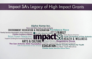Inside Outside! Supporting Impact SA for 5 years as a Non-Voting Grant Contributor! These are the winners of their $100,00 Grants over the years!
