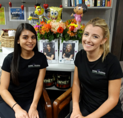 Rocio and Amanda on the 1st Day of their internship!