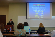 Dr. Christian talking about the 6 Components of Optimal Health and Aging at NuStar.