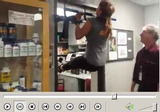 Patti and Dr. Christian do Neutral Grip Pullups for the Brachialis!