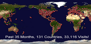 131 Countries!  They love us around the world!!!