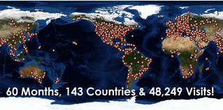 143 Countries!  They love us around the world!!!