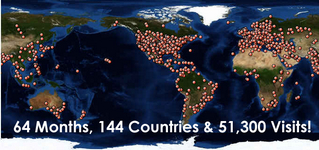 144 Countries!  They love us around the world!!