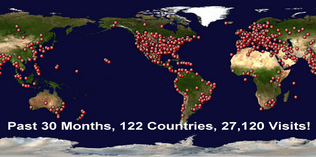 122 Countries!  They love us!