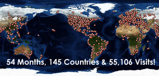 145 Countries!  They love us!  137 this time last year!