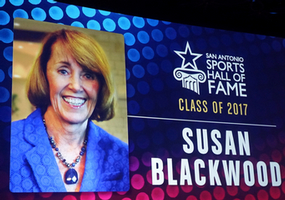 Congratulations to Dr. Susan Blackwood who was inducted into the San Antonio Sports Hall of Fame Class of 2017!