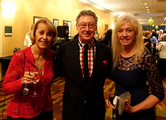 Dr. Christian with Dr. Susan Blackwood and Liz Fritz.