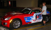 Dr. Susan Blackwood and the Rock and Roll pace Car!