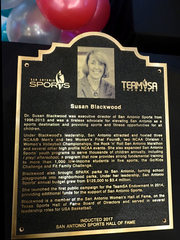 Congrats to Dr. Susan Blackwood on her induction to the San Antonio Sports Hall of Fame Class of 2017!