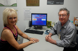 Debbie Davis, Program Director of Shane Resort is briefed by Dr. Christian about DXA Body Composition testing.