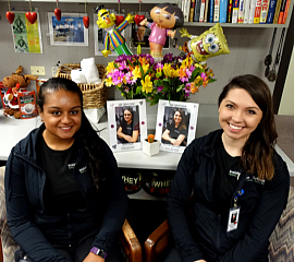 Alexa Patel and Rachael Saunders on their 1st Day!!