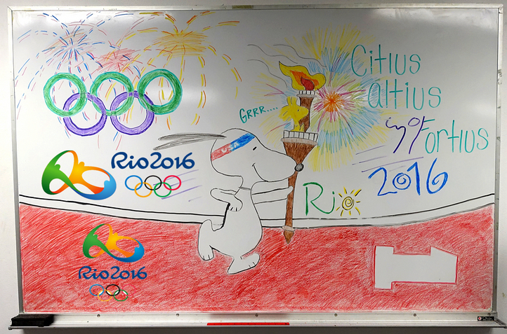 A great Olympics White Board by Jaclyn and Matt!