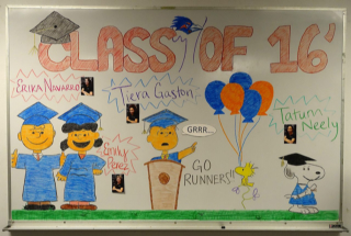 Check out this Great Charlie Brown Graduation Board!